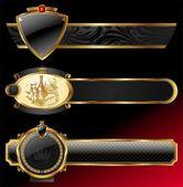 Vector ornate decorative golden frames