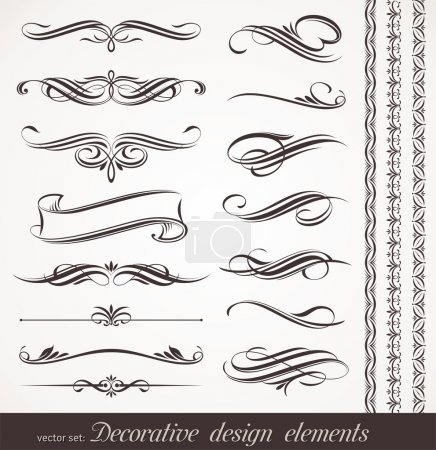 Illustration for Vector decorative design elements & page decor - Royalty Free Image