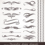 Vector decorative design elements & page decor...