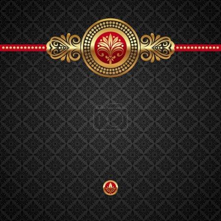 Illustration pour Fond décoratif vectoriel décoratif avec des éléments dorés - image libre de droit