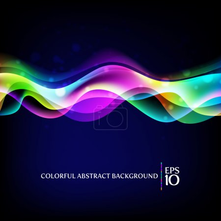 Illustration for Vector abstract background - colorful waves - Royalty Free Image