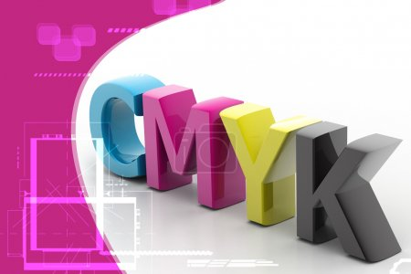 Highly rendering of cmyk in attractive background