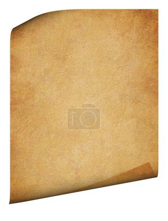 Foto de Pergamino con las esquinas dobladas. papeles página detallada. se aisló en un fondo blanco - Imagen libre de derechos