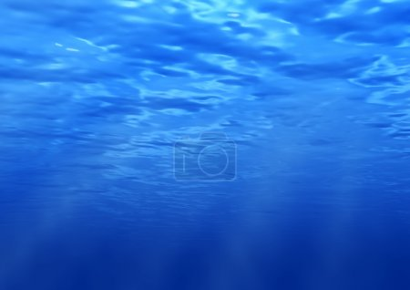 Photo for Beams of the sun underwater. Water background - Royalty Free Image