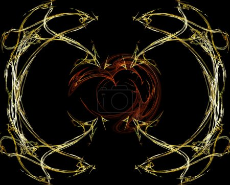 Heart- abstract gold