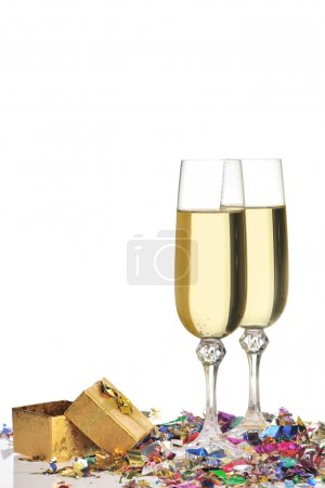 Glasses of a champagne