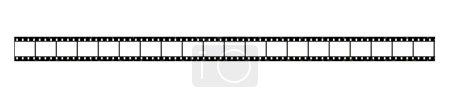 Photo pour Fragment de film 35mm (le fragment isolé sur fond blanc ) - image libre de droit