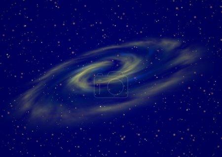 Foto de Brilla el cielo nocturno estrella con conjunto de estrellas y la galaxia - Imagen libre de derechos