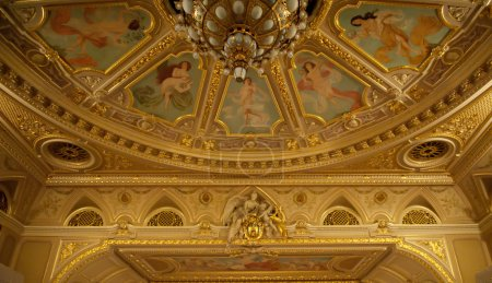 Ceiling of opera theatre of city of Lvov