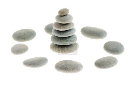 Photo pour Caillou. pierres de mer isolés sur fond blanc - image libre de droit
