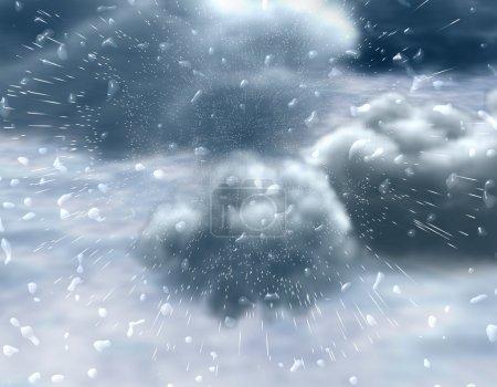 Regen. eine prompte ungestüme