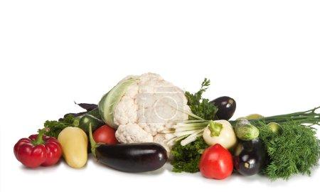 Photo pour Ensemble de légumes. Il est isolé sur un fond blanc - image libre de droit