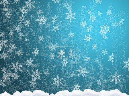 Photo pour Abstraction pour thème chutes de neige (chutes de neige dans la dérive des neiges ) - image libre de droit
