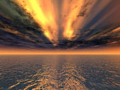 Fantastic red sunset