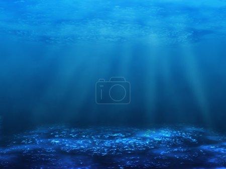 Photo pour Le monde sous-marin. une illustration des profondeurs marines avec un fond efficace - image libre de droit