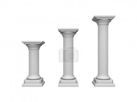 Photo for Architecture column isolated on a white - Royalty Free Image
