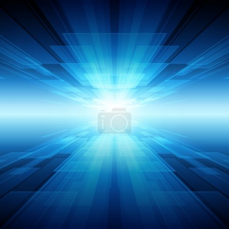 Illustration for Virtual tecnology space vector background. Eps 10. - Royalty Free Image
