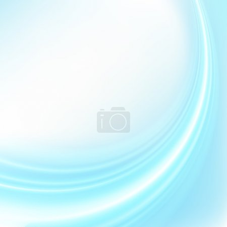 Illustration for Blue smooth wave vector background eps 10 - Royalty Free Image