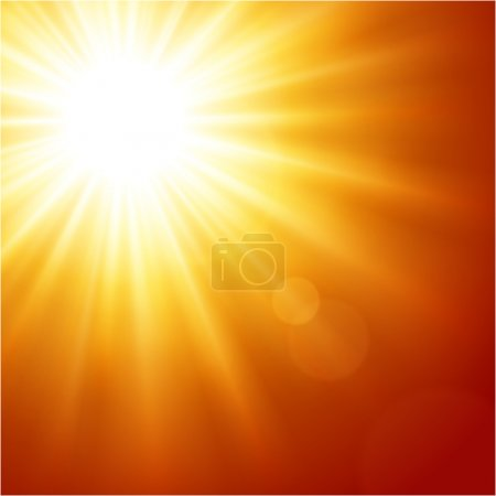 Illustration for Sun with lens flare vector background eps 10 - Royalty Free Image