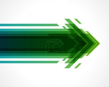 Illustration pour Flèches arrière-plan vectoriel. Eps 10 - image libre de droit