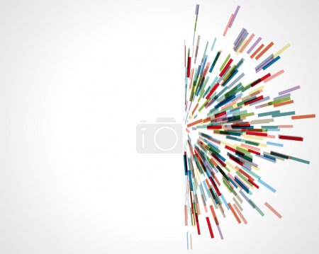 Illustration pour Technologie abstraite lignes vector background. EPS 10 - image libre de droit