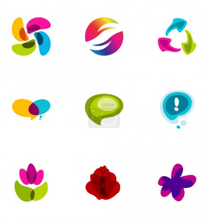 Logo design elements set 12