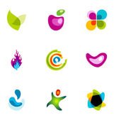 Logo design elements set 06