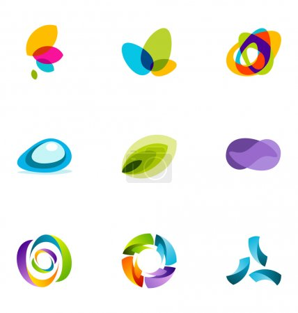 Illustration for 9 logo or icon design elements - Royalty Free Image