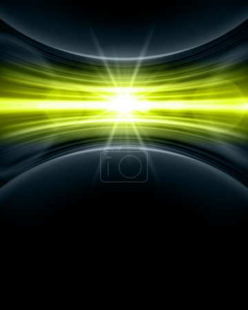 Illustration for Smooth technology light lines background - Royalty Free Image