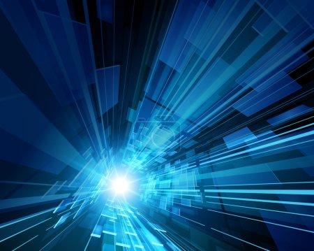 Illustration pour Espace virtuel abstrait avec fond vectoriel d'écran - image libre de droit
