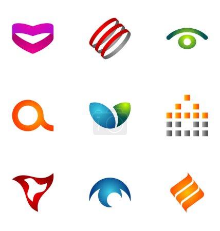 Logo design elements set 33