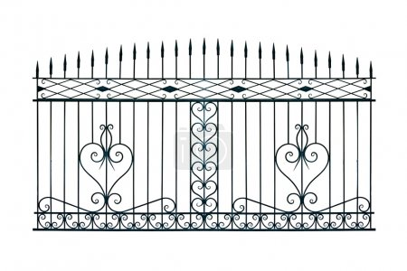 Old-time forged gates.