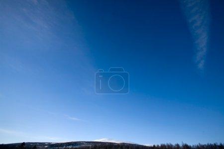 Deep Blue Sky Background