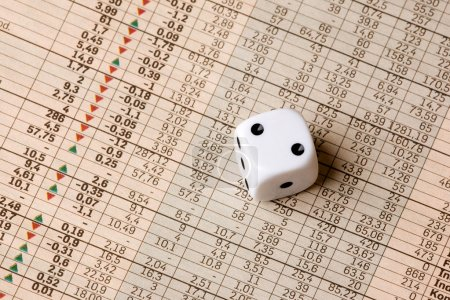 Dice and Stock Market Concept