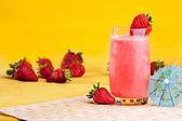 boisson d'été aux fraises