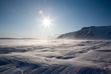 eingefrorene arktische Landschaft