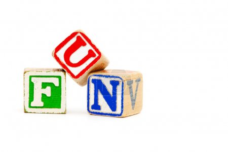 Photo for The word fun with childrens wooden blocks - Royalty Free Image
