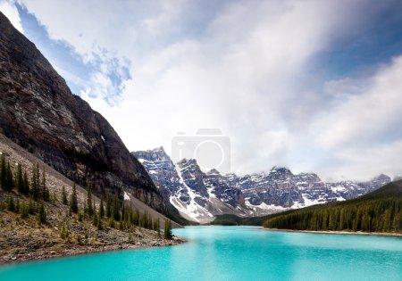 Photo pour Paysage du lac Moraine, parc national Banff, Alberta, Canada - image libre de droit