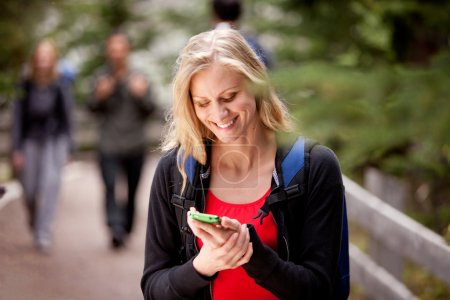 Woman Text Phone