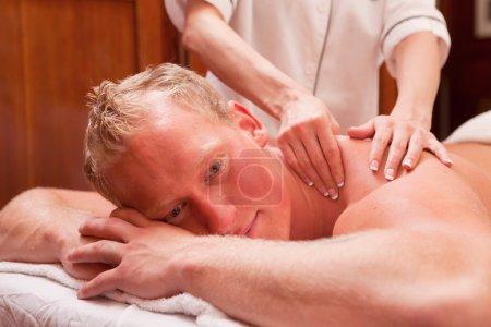 Man Receiving a Massage