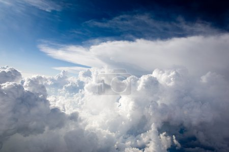 Photo for A view of cumulus clouds from above - Royalty Free Image