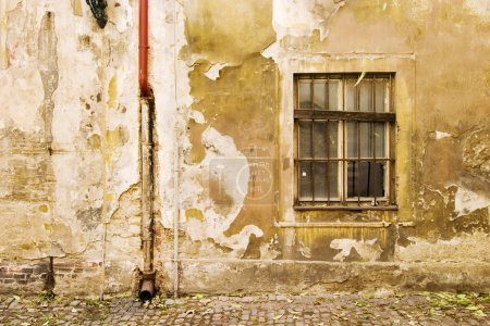 Photo for An old weathered wall abstract in Prage, Czech Republic. - Royalty Free Image
