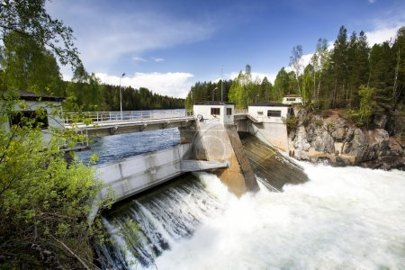 A hydro electric plant on a river...