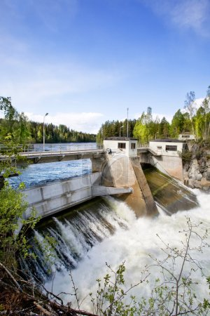 A hydro electric plant on a river