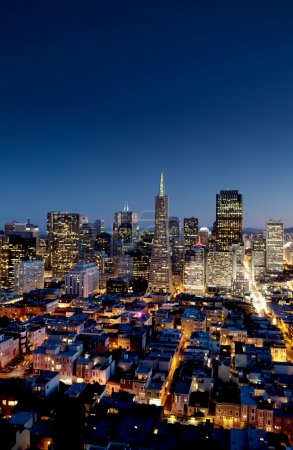 Photo for Night cityscape of San Francisco business district - Royalty Free Image
