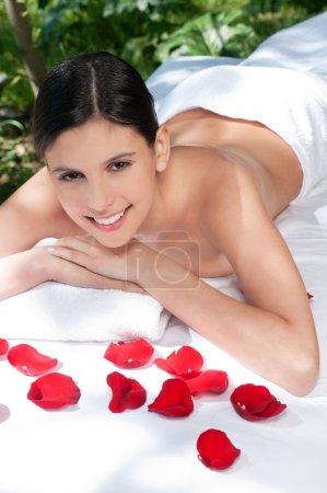 Beautiful young woman relaxing