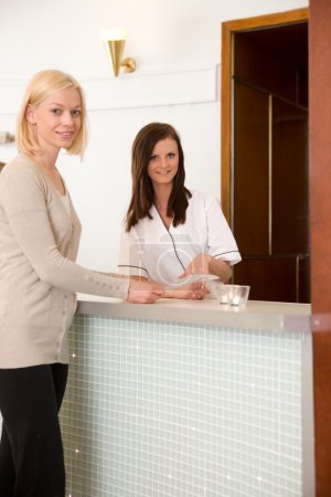 Woman in Spa Reception