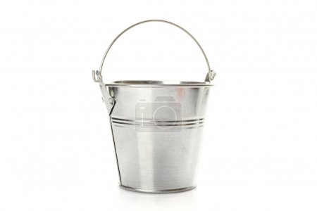 Photo for Metal bucket isolated on a white background - Royalty Free Image