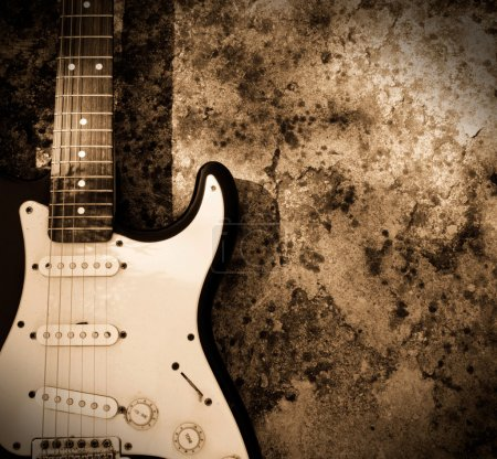 Photo for Grunge guitar background - Royalty Free Image