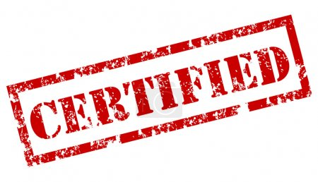 Illustration for Certified stamp - Royalty Free Image
